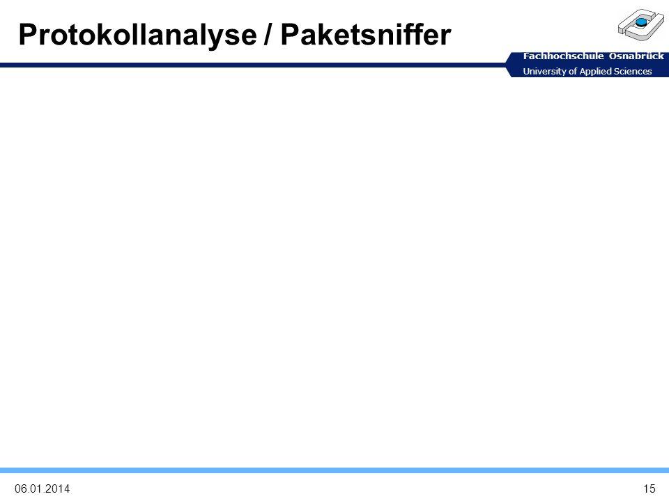 Protokollanalyse / Paketsniffer