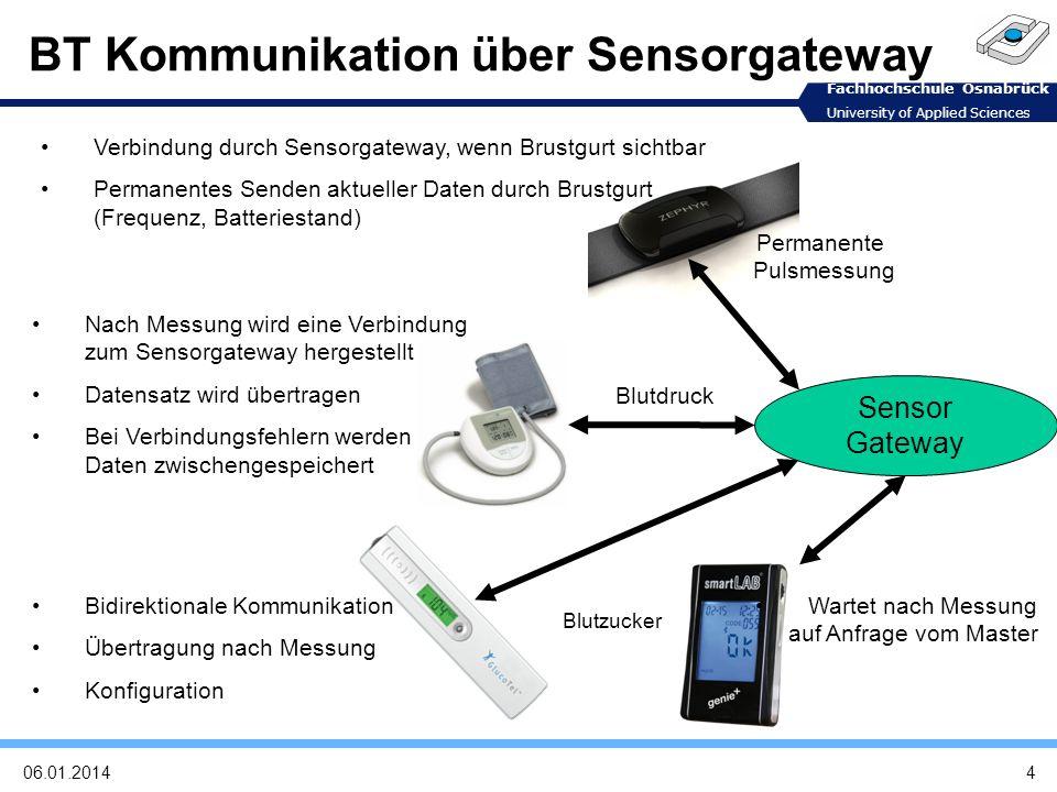 BT Kommunikation über Sensorgateway