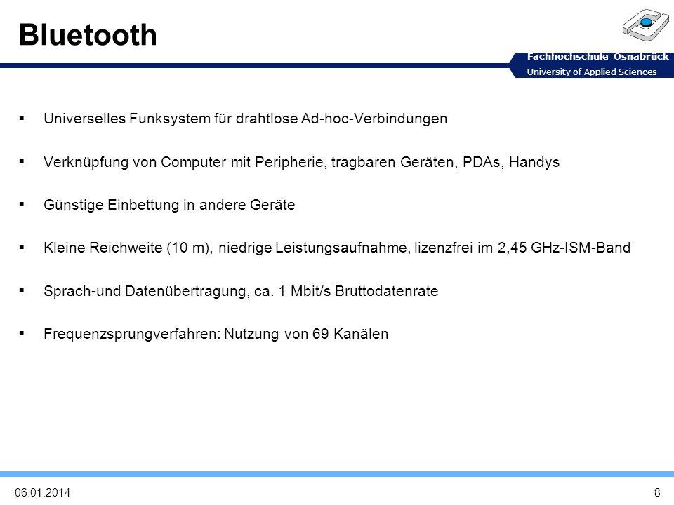 Bluetooth Universelles Funksystem für drahtlose Ad-hoc-Verbindungen