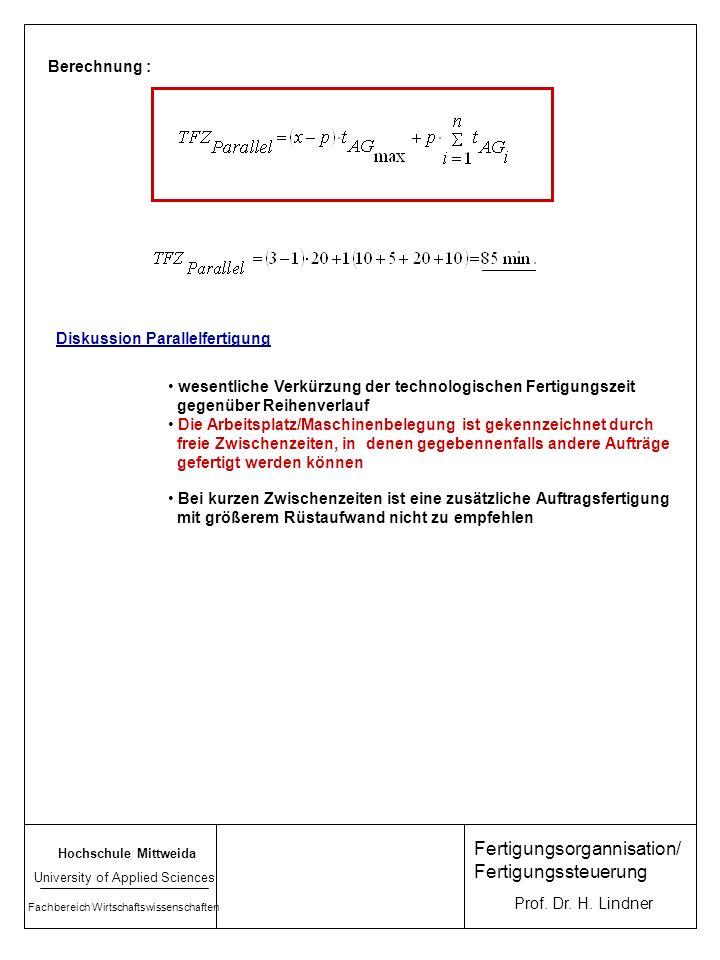 Fertigungsorgannisation/ Fertigungssteuerung