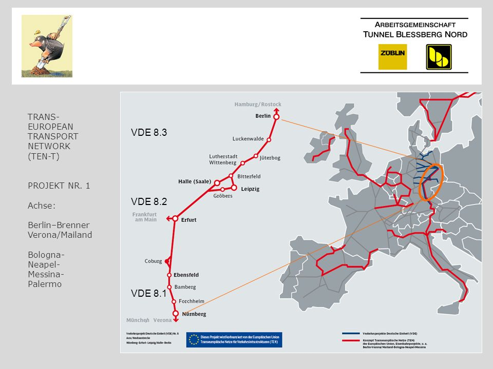 VDE 8.3 VDE 8.2 VDE 8.1 TRANS- EUROPEAN TRANSPORT NETWORK (TEN-T)