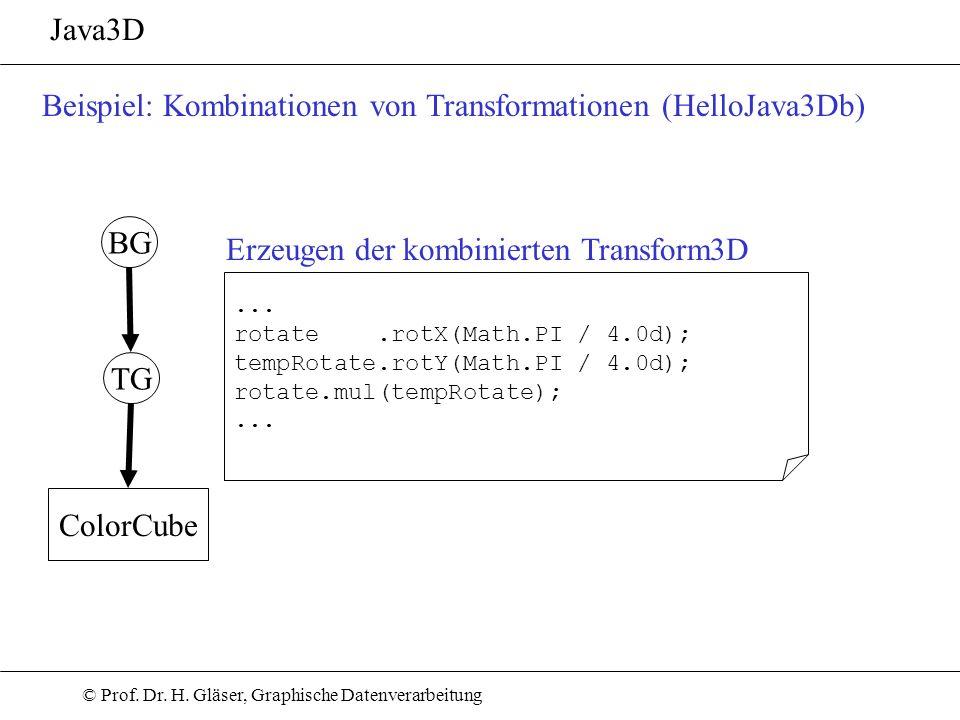 Beispiel: Kombinationen von Transformationen (HelloJava3Db)