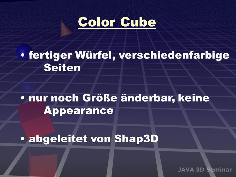 Color Cube fertiger Würfel, verschiedenfarbige Seiten