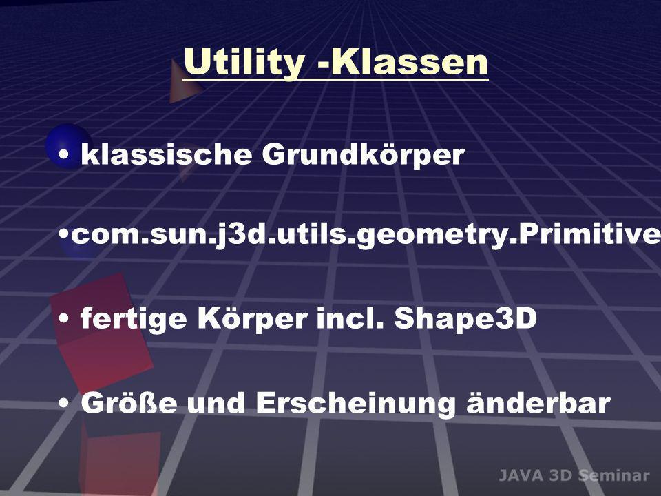 Utility -Klassen klassische Grundkörper