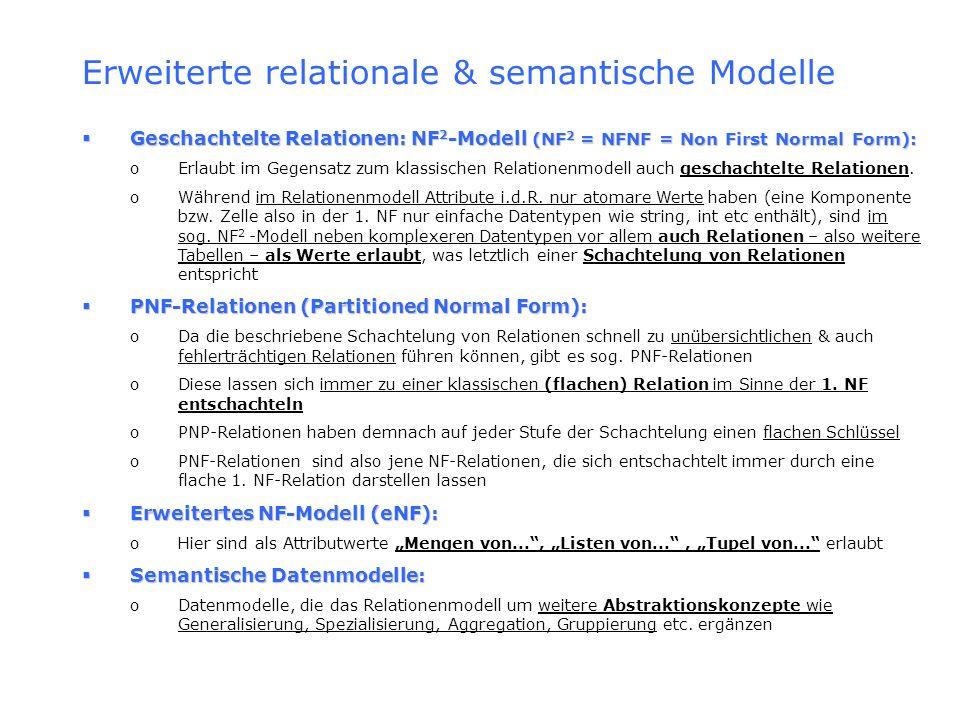 Erweiterte relationale & semantische Modelle