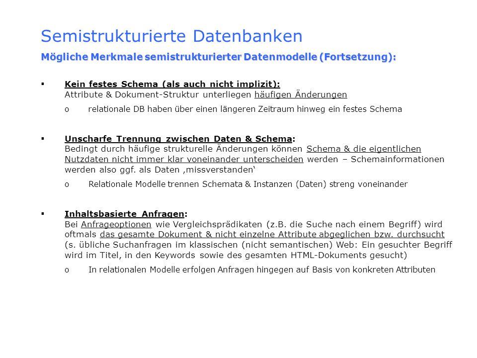 Semistrukturierte Datenbanken