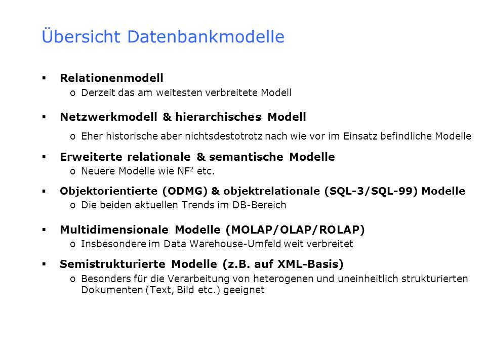 Übersicht Datenbankmodelle