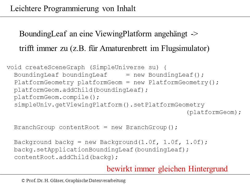 BoundingLeaf an eine ViewingPlatform angehängt ->