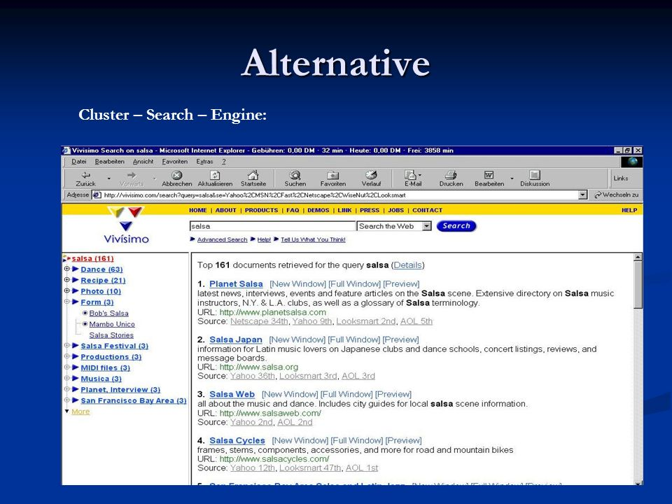 Alternative Cluster – Search – Engine: