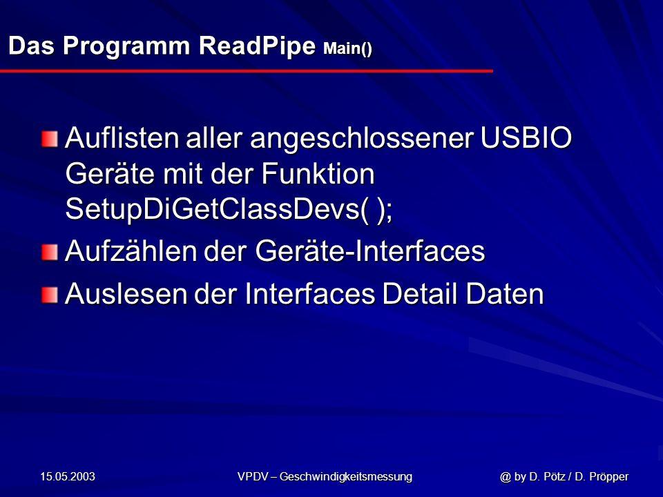 Das Programm ReadPipe Main()
