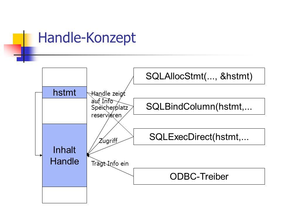 SQLAllocStmt(..., &hstmt)