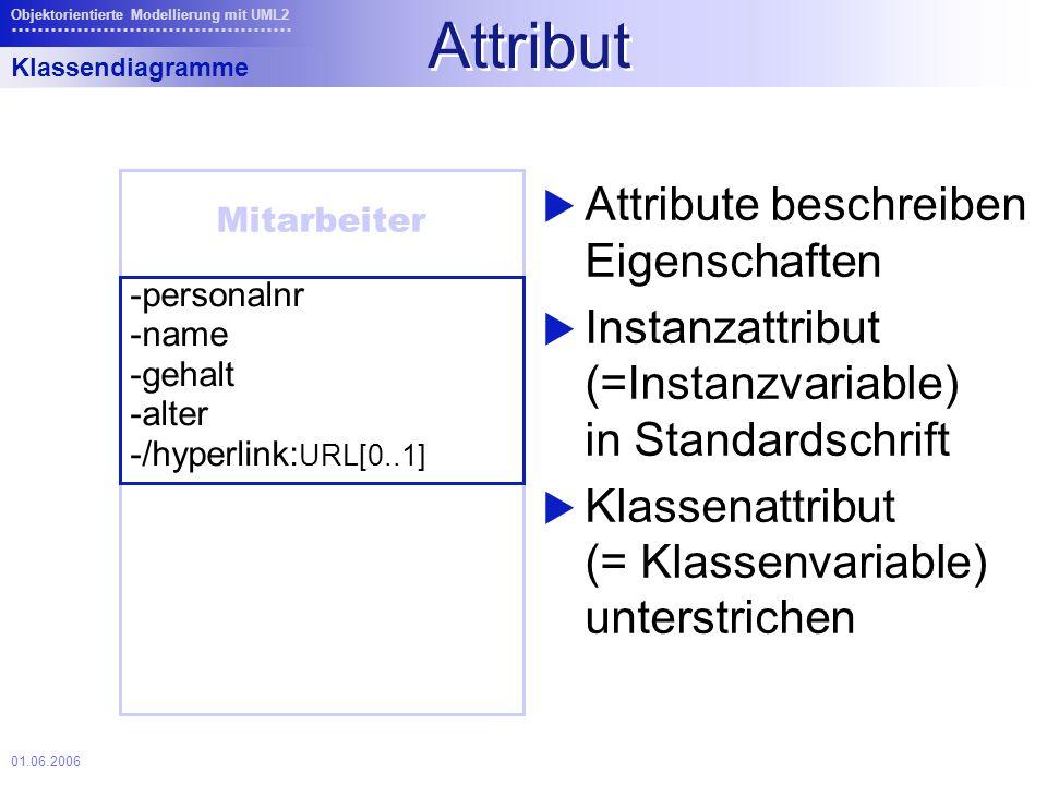 Attribut Attribute beschreiben Eigenschaften
