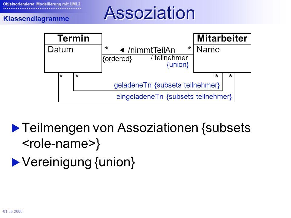 Assoziation Teilmengen von Assoziationen {subsets <role-name>}