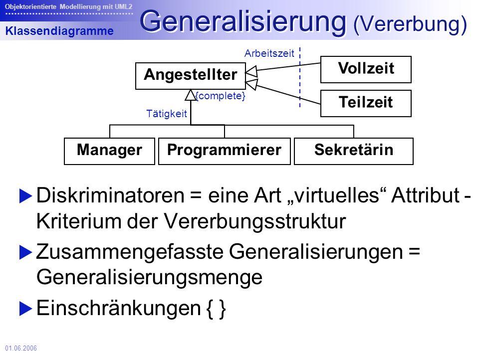 Generalisierung (Vererbung)