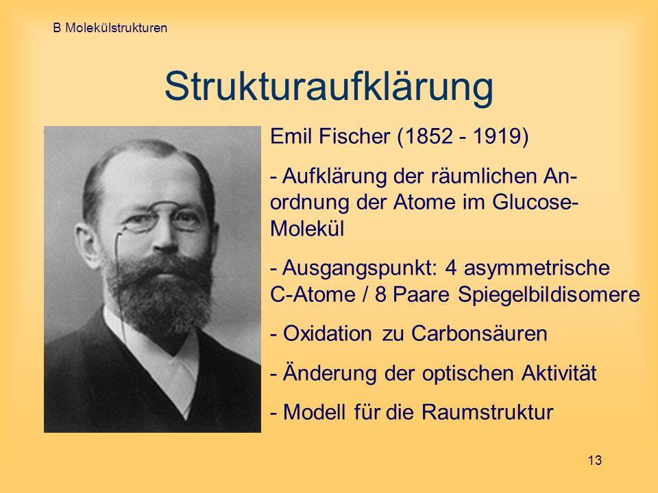Strukturaufklärung Emil Fischer (1852 - 1919)