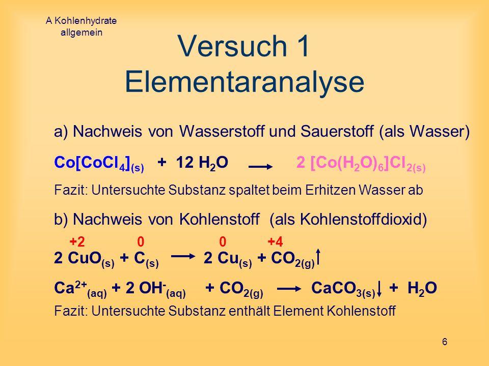 Versuch 1 Elementaranalyse