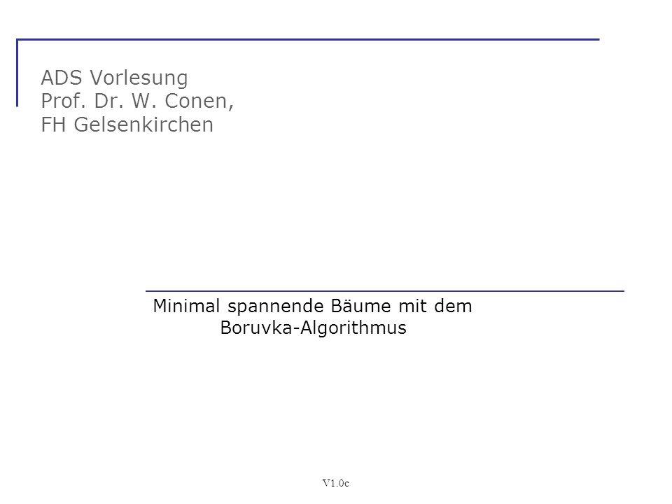 ADS Vorlesung Prof. Dr. W. Conen, FH Gelsenkirchen