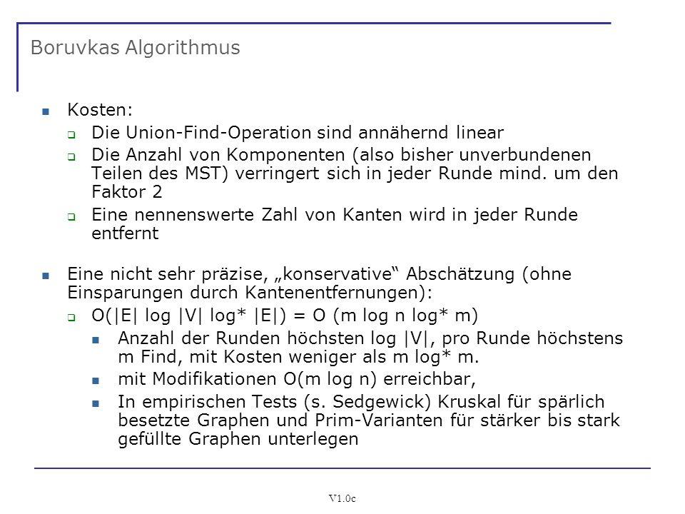 Boruvkas Algorithmus Kosten: