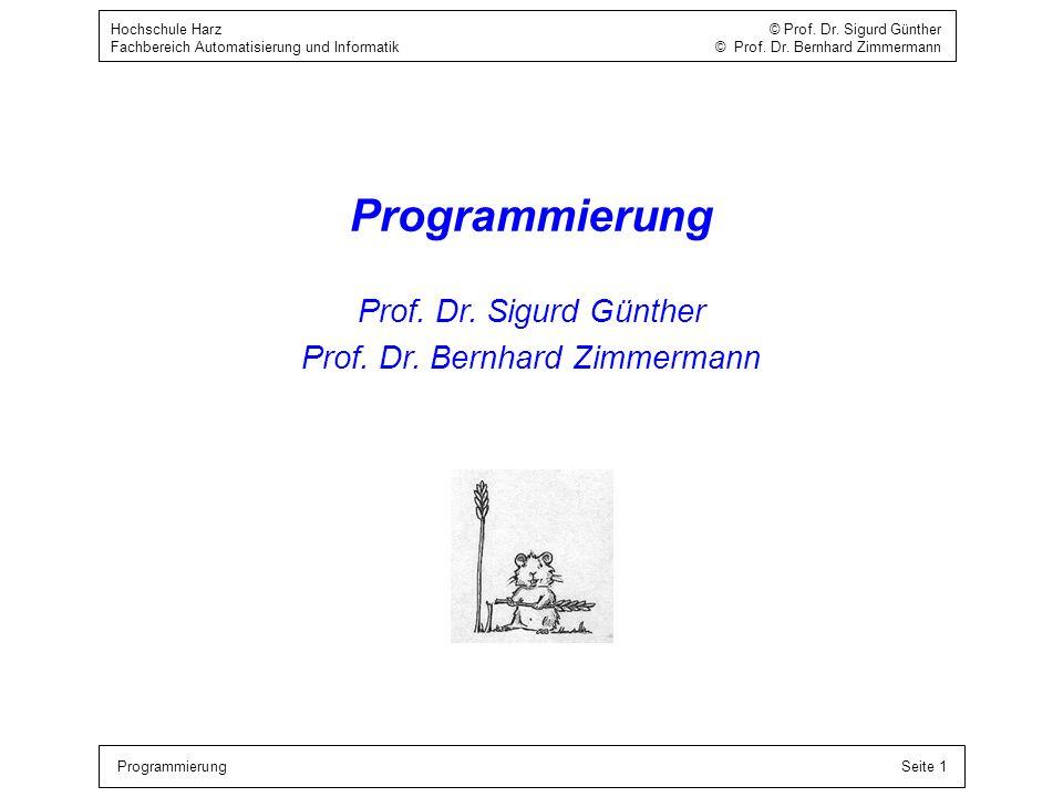 Prof. Dr. Bernhard Zimmermann