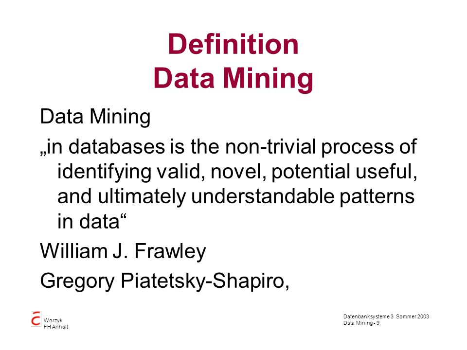 Definition Data Mining