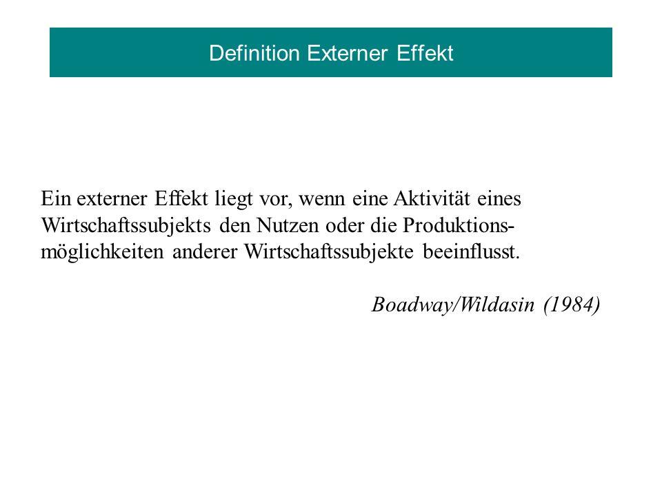 Definition Externer Effekt