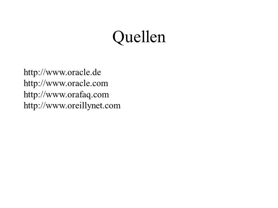 Quellen http://www.oracle.de http://www.oracle.com