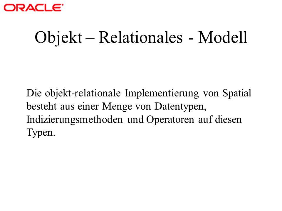 Objekt – Relationales - Modell