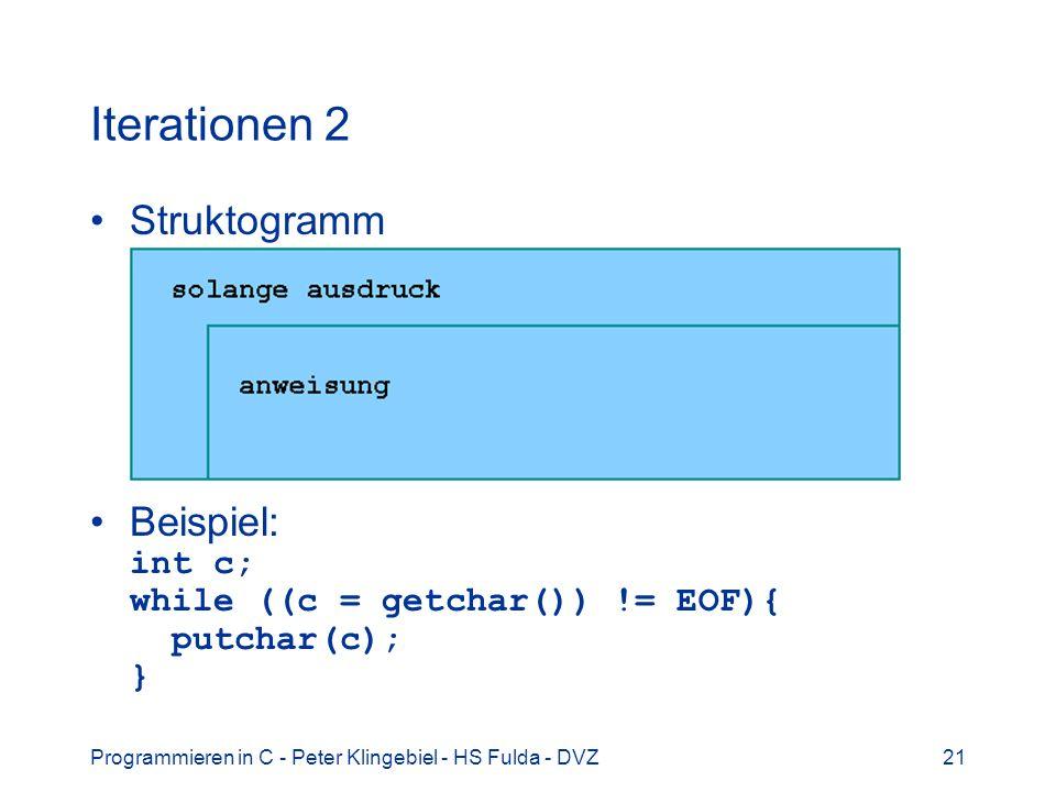 Iterationen 2 Struktogramm