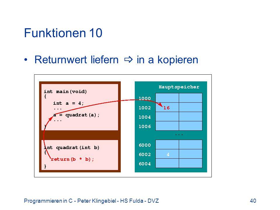 Funktionen 10 Returnwert liefern  in a kopieren