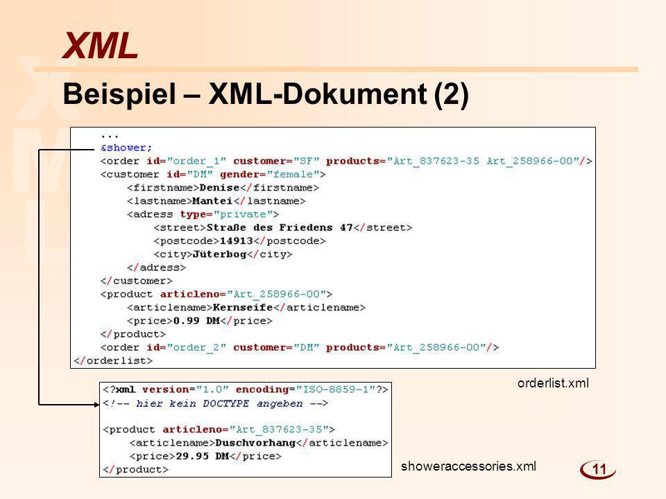 Beispiel – XML-Dokument (2)