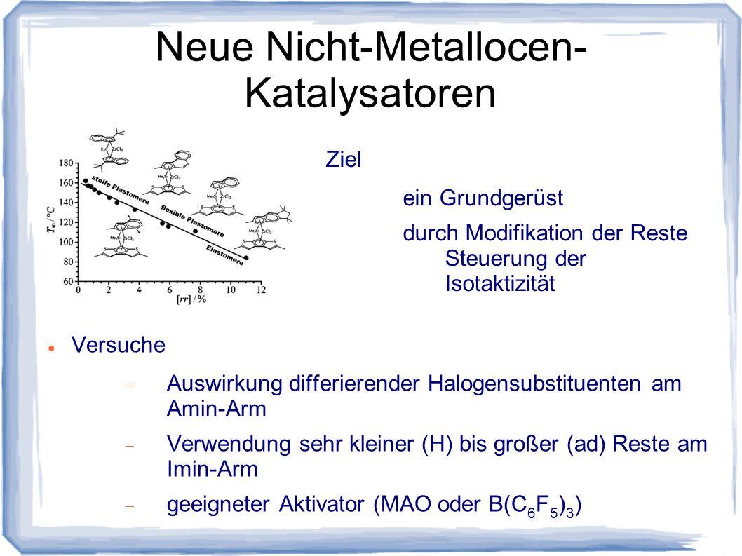Neue Nicht-Metallocen-Katalysatoren