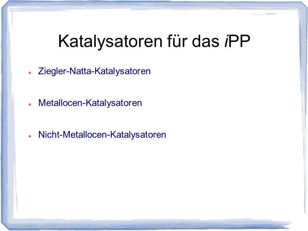 Katalysatoren für das iPP