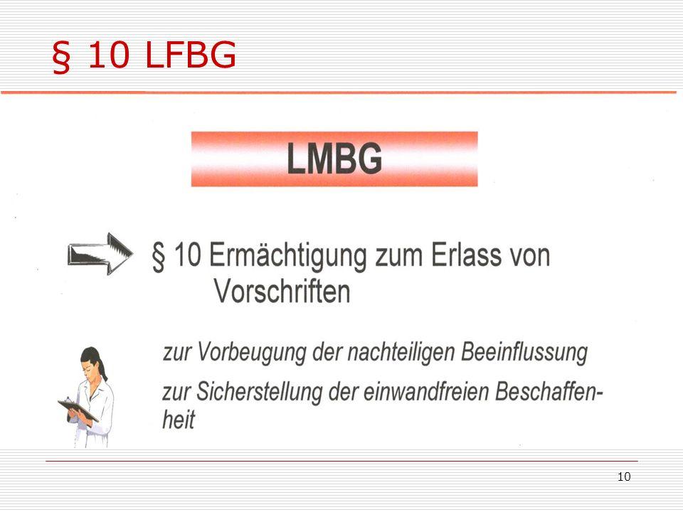 § 10 LFBG