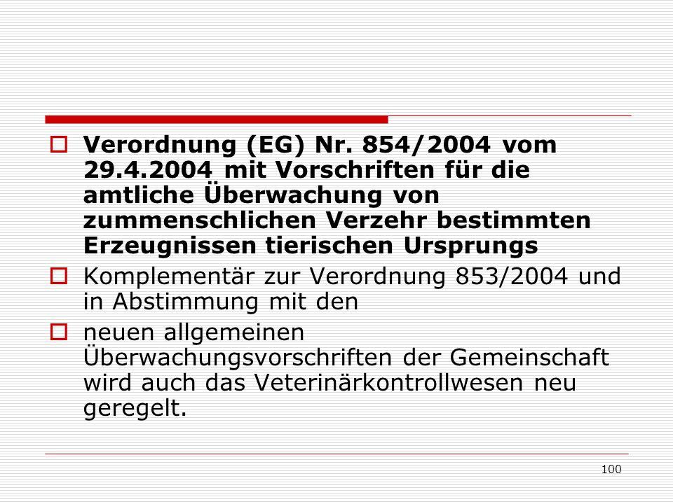 Verordnung (EG) Nr. 854/2004 vom 29. 4