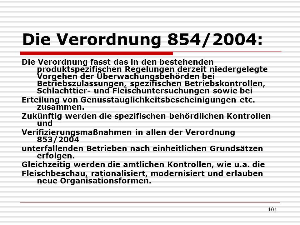 Die Verordnung 854/2004: