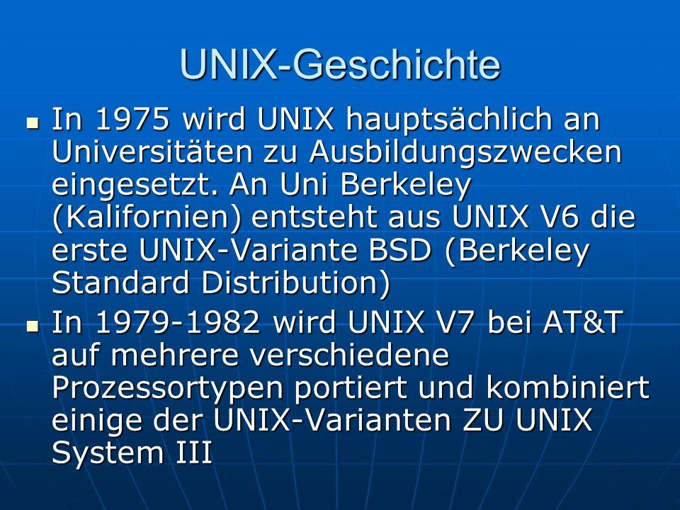 UNIX-Geschichte