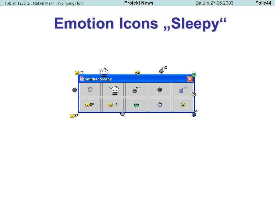 "Emotion Icons ""Sleepy"