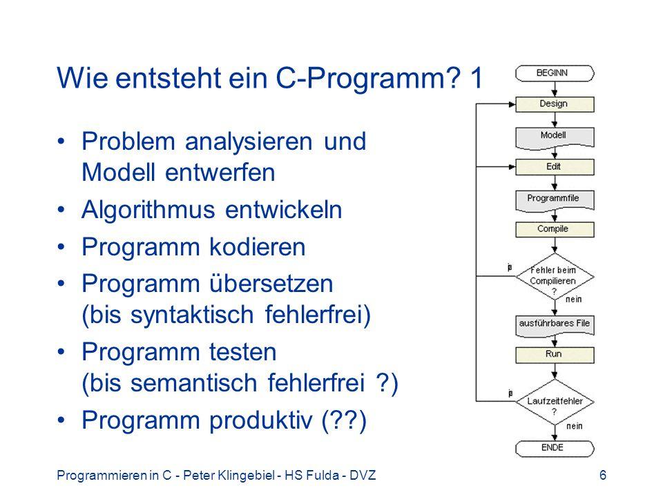 Wie entsteht ein C-Programm 1