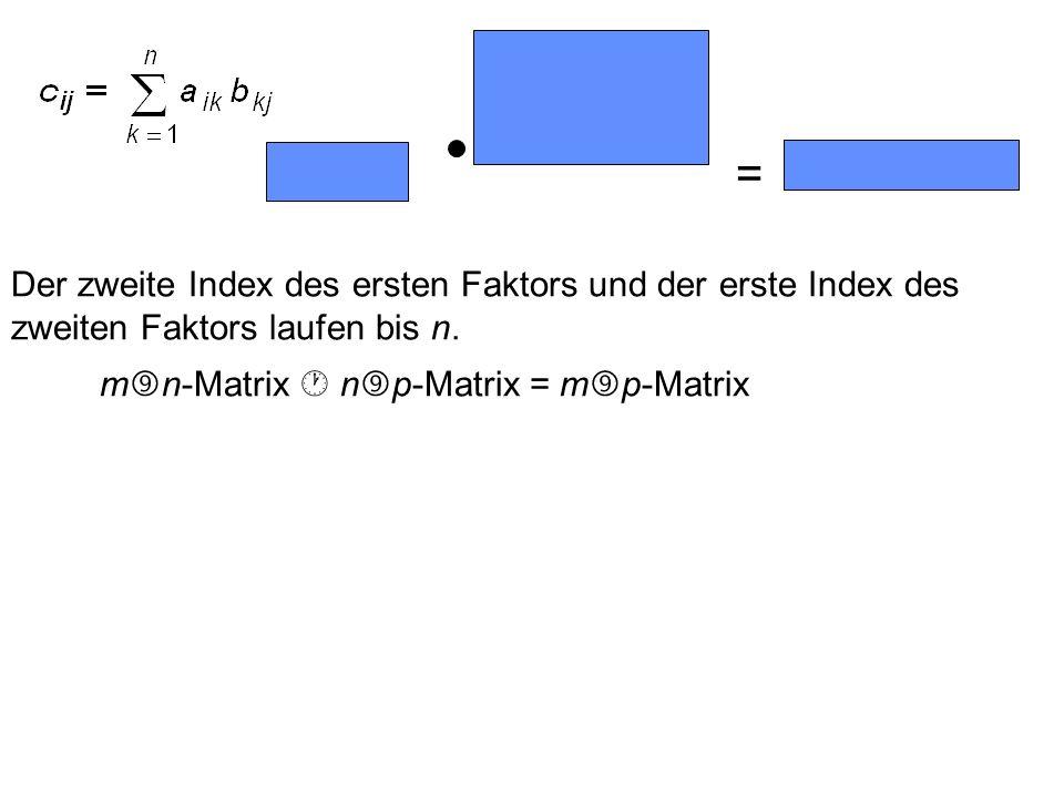 = Der zweite Index des ersten Faktors und der erste Index des zweiten Faktors laufen bis n.