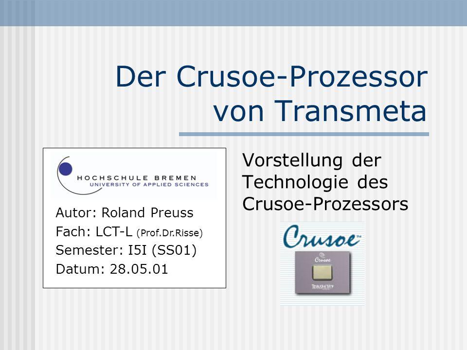 Der Crusoe-Prozessor von Transmeta
