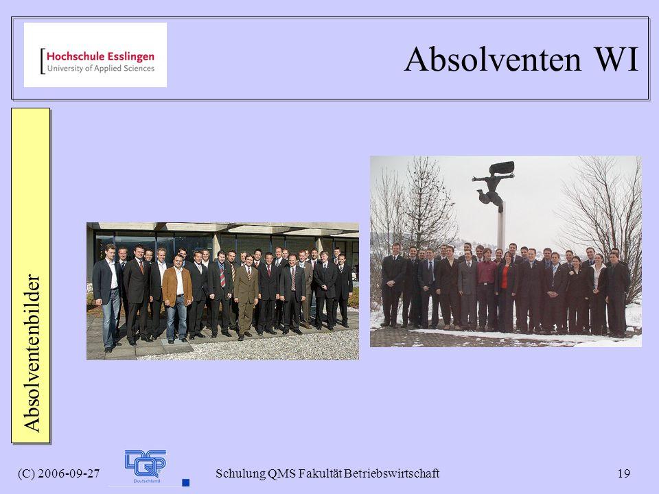 Absolventen WI Absolventenbilder