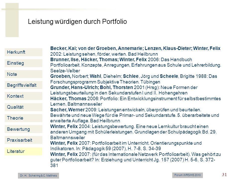 Becker, Kai; von der Groeben, Annemarie; Lenzen, Klaus-Dieter; Winter, Felix 2002: Leistung sehen, förder, werten. Bad Heilbrunn