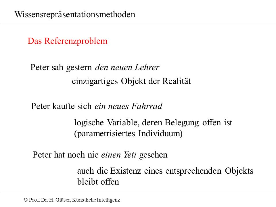 Wissensrepräsentationsmethoden