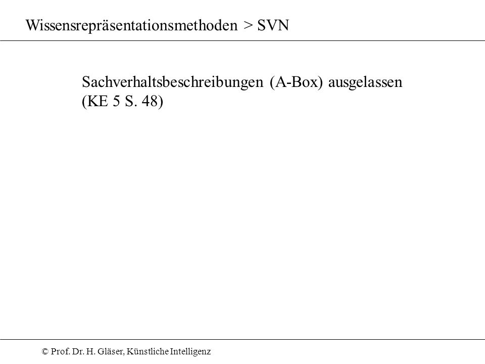 Wissensrepräsentationsmethoden > SVN