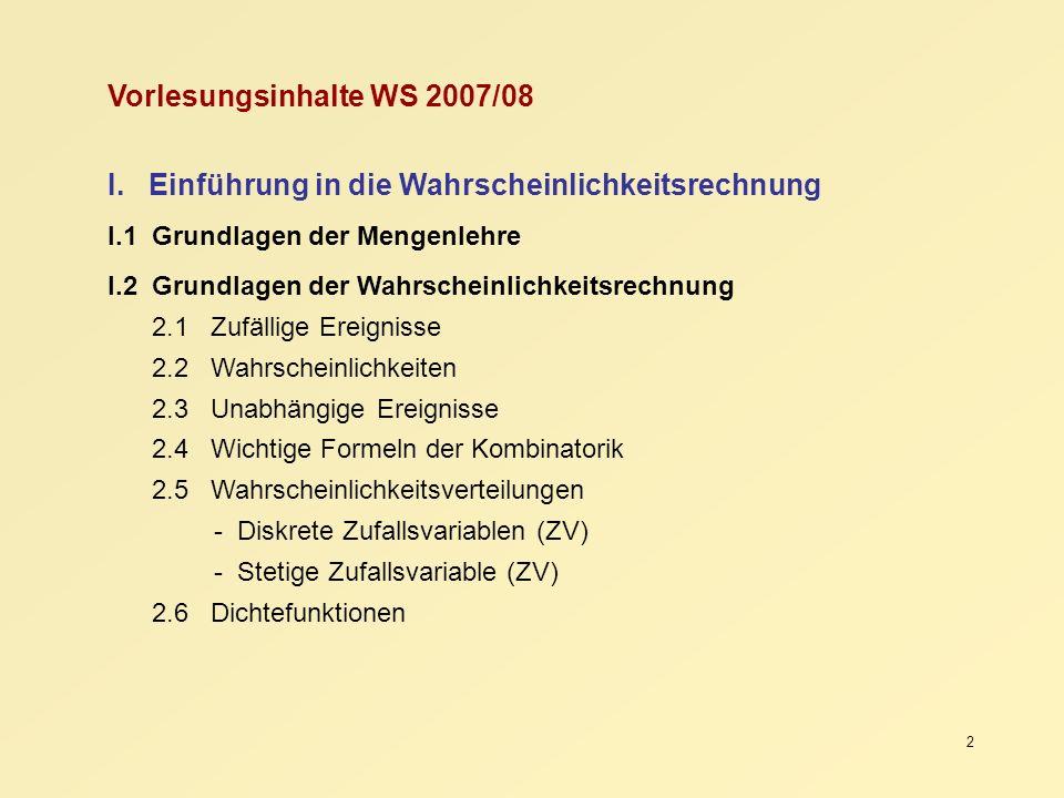 Vorlesungsinhalte WS 2007/08