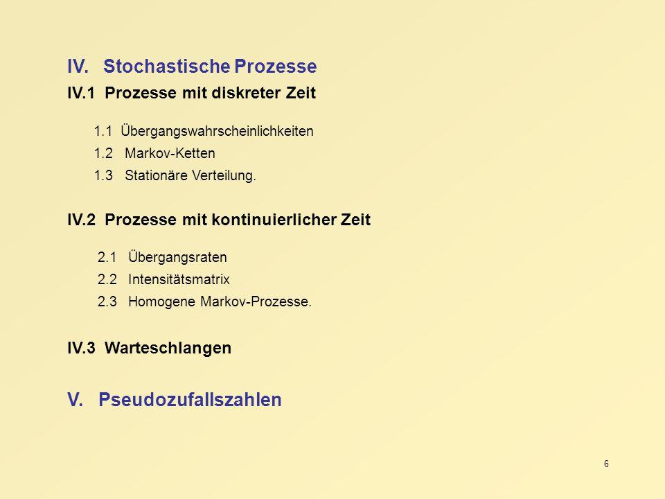 IV. Stochastische Prozesse