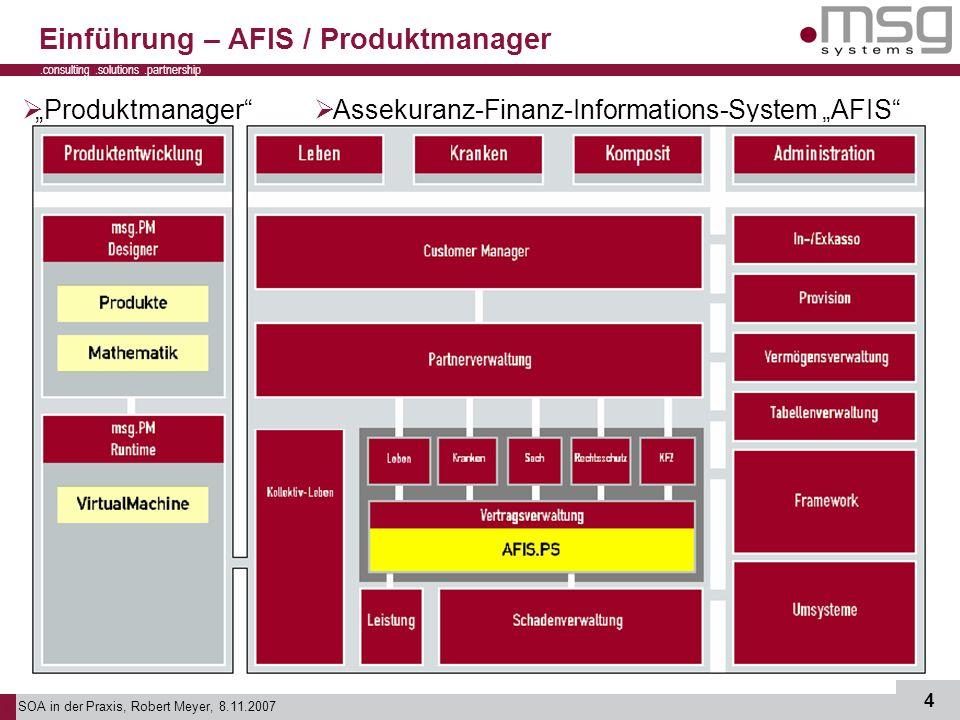 Einführung – AFIS / Produktmanager