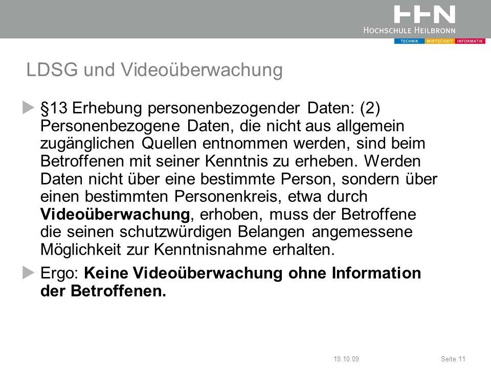 LDSG und Videoüberwachung
