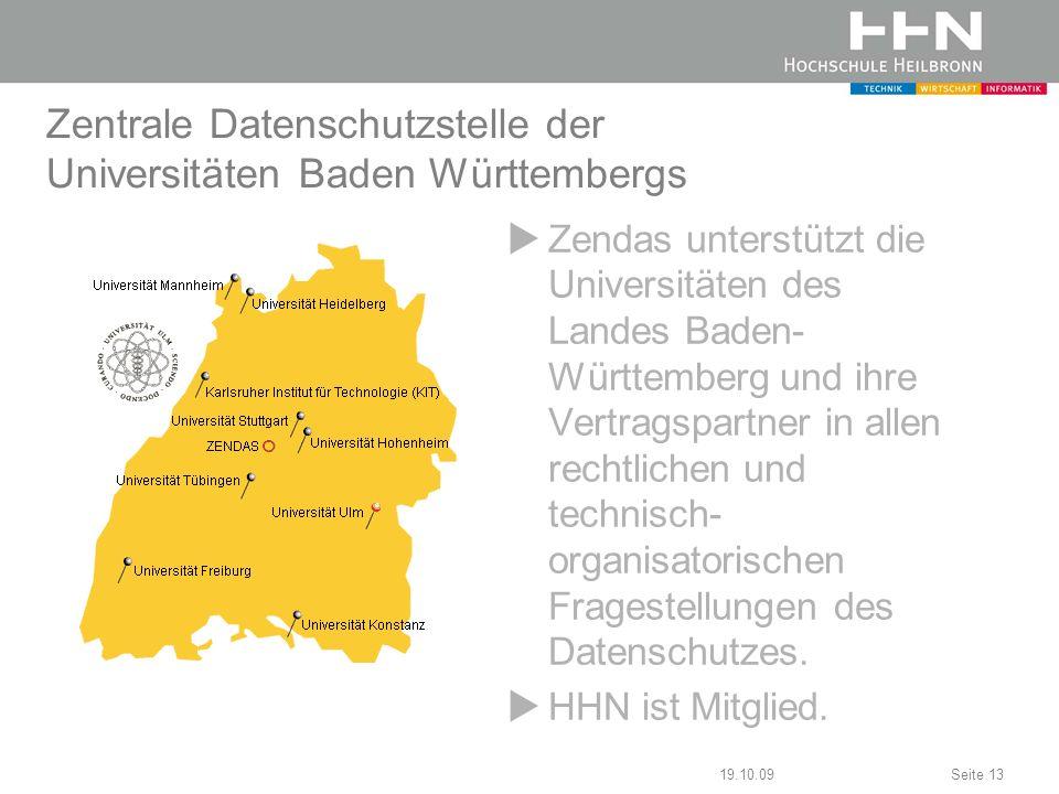 Zentrale Datenschutzstelle der Universitäten Baden Württembergs