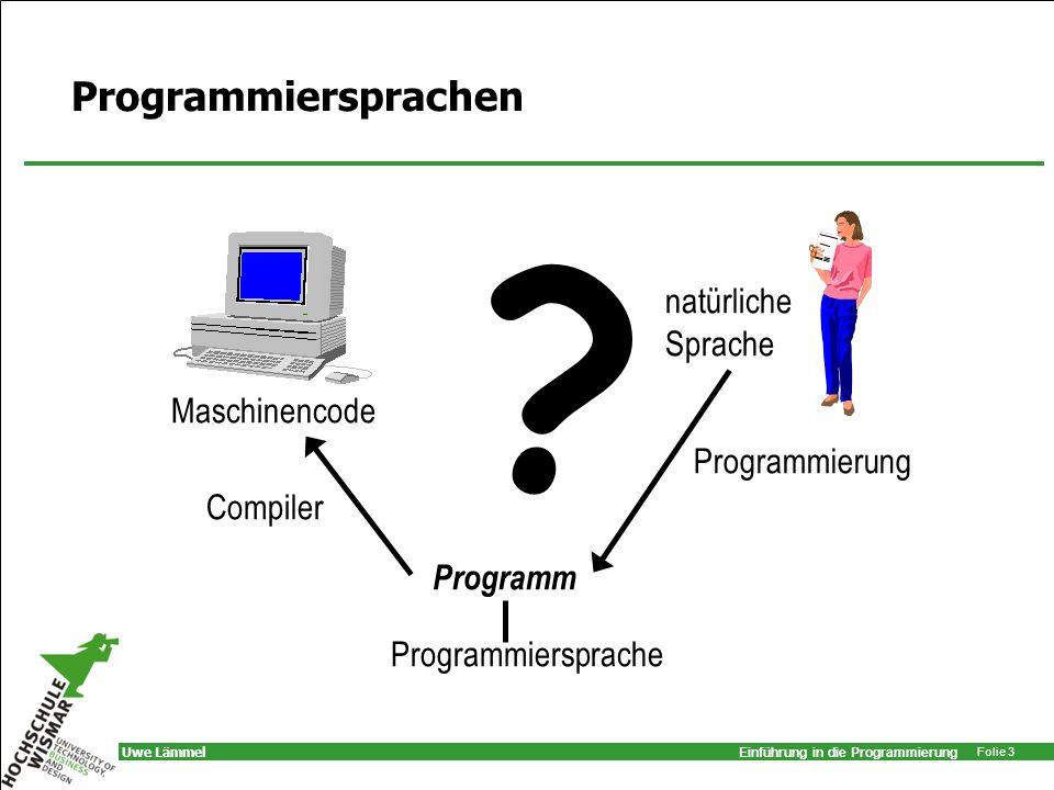 Programmiersprachen natürliche Sprache Maschinencode Programmierung